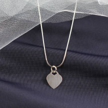Heart Tag Pendant with Snake Chain Necklace