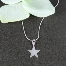 Star Pendant with Square Snake Chain Necklace