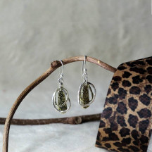 Two Tone Geometric Earrings