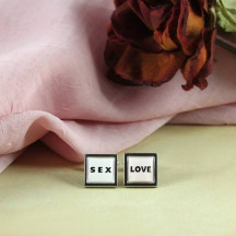 Stylish Love and Sex Novelty Cufflinks a Fun Addition to Your Dressing
