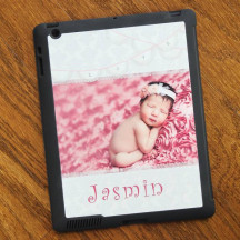 Black  Custom iPad 2/3/4 Case Cover
