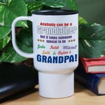Personalized Anybody Can Be...Grandpa Travel Mug