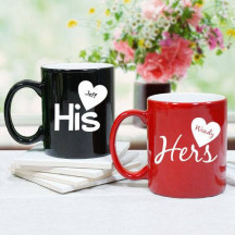 Personalized His and Hers Mugs