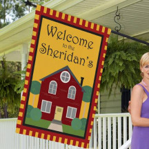 Personalized Welcome to Our Home House Flag