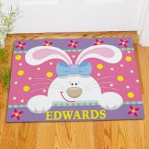 Personalized Easter Bunny Doormat