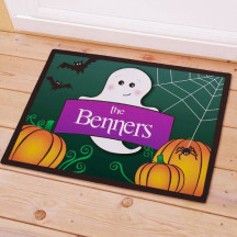 Personalized Halloween Ghost Welcome Doormat