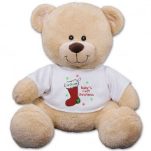 "Personalized Baby's First Christmas 12"" Teddy Bear"