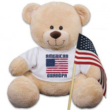 Personalized American Flag Teddy Bear