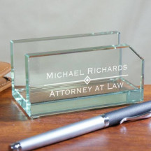 Personalized Glass Business Card Holder