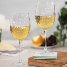 Wedding Party Wine glass