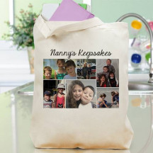 Photo Collage Canvas Tote Bag