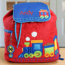 Embroidered Train Backpack