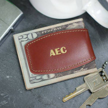 Personalized Brown Bulged Money Clip
