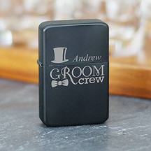 Personalized Groom Crew Lighter