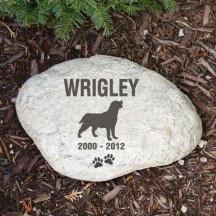 Dog Silhouette Sympathy Garden Stone