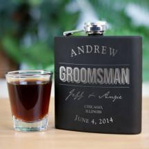 Engraved Groomsmen Steel Flask