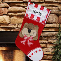 Woof! Doggie Christmas Stocking