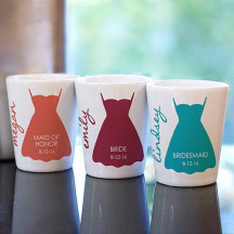 Personalized Bridal Party Dress Shot Glass