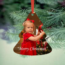 Christmas Tree Personalized Christmas Ornament with Custom Image
