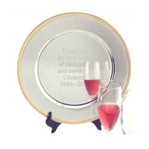 Personalized Gold Rim Serving Tray
