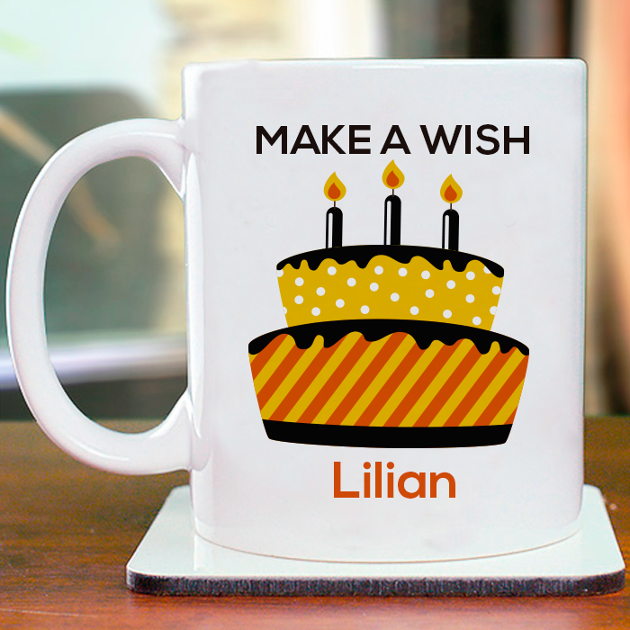 Buy Make A Wish Personalized Mug For Beautiful And Memorable