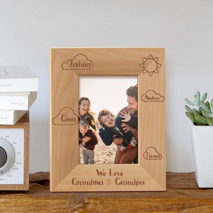 Buy We Love Grandma And Grandpa Personalized Wooden Picture Frame