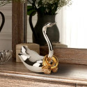 Swan Jeweled Ring Minder with Nickle-plated Base and Silver Finish
