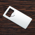 Personalized Rectangular Nickel Plated Bottle Opener Custom Monogram