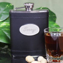 Personalized Black Stainless Steel Flask with Custom Quote/Message