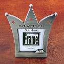 Cat Attitude Feline Crown Photo Frame