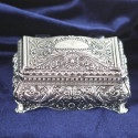 Personalized Ornate Rectangular Jewelry Box Custom Name/Quote printed