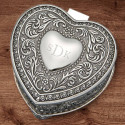 Personalized Heart Shaped Jewelry Box Italianate Styling Custom Quote