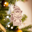 Personalized Wooden Santa Claus Merry Christmas Ornament