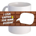 "Personalized ""I Love Easter"" Coffee Mug With Custom Printed Image"