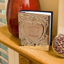 Personalized Chrome Plated Sweetheart Photo Album