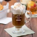 Personalized Valentine's Day Anchor Hocking Irish Coffee Mug