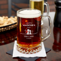 Personalized Valentine's Day Beer Mug 23 oz