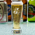Personalized Initial and Name Libbey Mini Pilsner / Shooter Glass