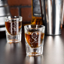 Personalized Initial and Name Libbey Fluted Whiskey / Shot Glass