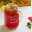 Personalized Mason Jar, Drinking Jar with Handle 16 oz