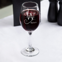 Personalized Initial and Name Core All-Purpose Wine Glass