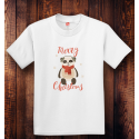 Personalized Merry Christmas Youth Tagless, 100% Cotton T-Shirt,  Hanes