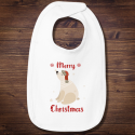 Personalized Merry Christmas Infant Premium Jersey Bib