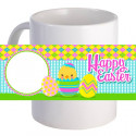 "Personalized ""Hatching Happy Easter!"" Coffee Mug With Custom Image"