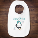 Personalized Happy Holidays Infant Premium Jersey Bib