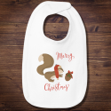 Personalized Infant Premium Merry Christmas Jersey Bib