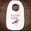 Personalized Have A Very Merry Christmas Infant Premium Jersey Bib