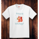 Personalized Youth Tagless Happy Holidays, 100% Cotton T-Shirt,  Hanes