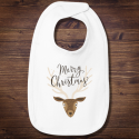 Personalized Infant Merry Christmas Jersey Bib