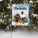 Personalized Gingerbread House Garden Flag
